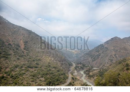 Cascada de las Animas in Cajon del Maipo near Santiago, Chile
