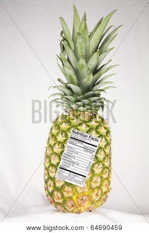 Pineapple with Nutrition Label