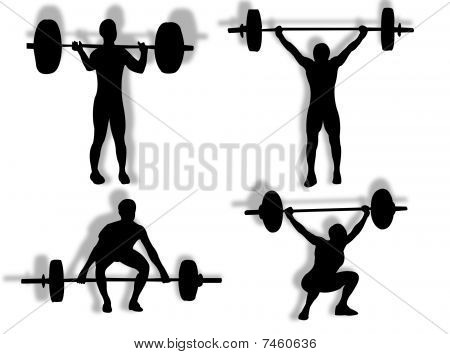 Lifting Weights Silhouette
