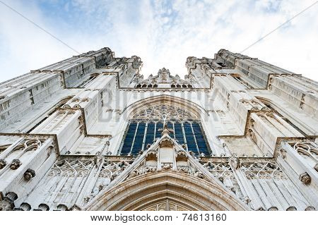 St.michael Cathedral In Bruxelles, Belgium, Europe