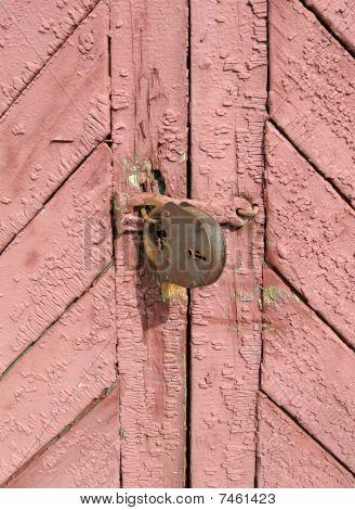 Brown Vintage Wall, Locked Door Concept