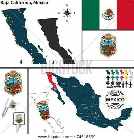 Map Of Baja California, Mexico