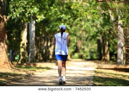 Jogger running at the park