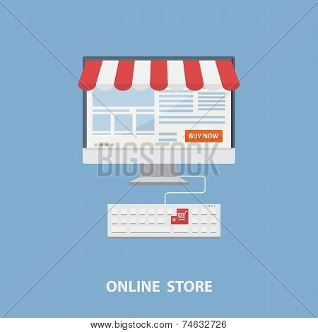 Vector flat design shopping concept