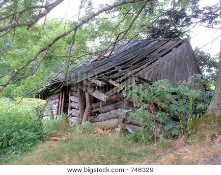 wrecked barn