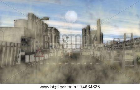 Surreal Industrial Area
