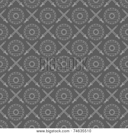 Seamless viking pattern can be used for graphic design, textile design or web design. poster