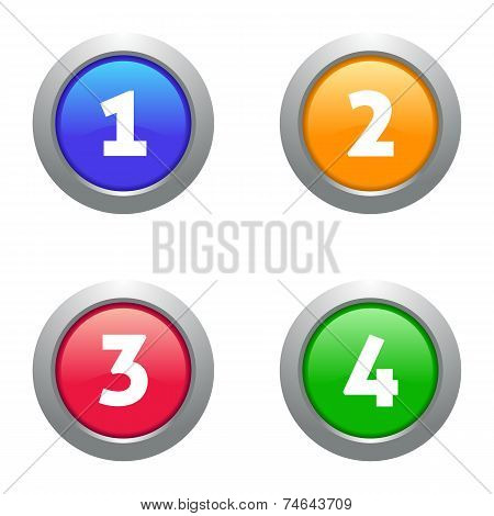 Web Numbers Buttons
