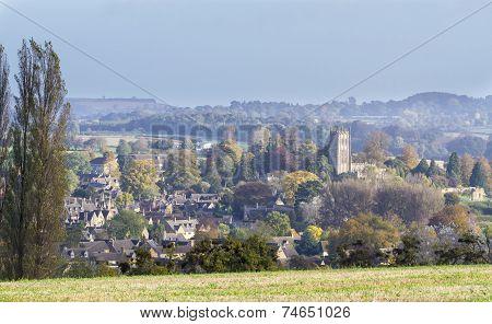 Panorama Of Chipping Campden, Gloucester, England