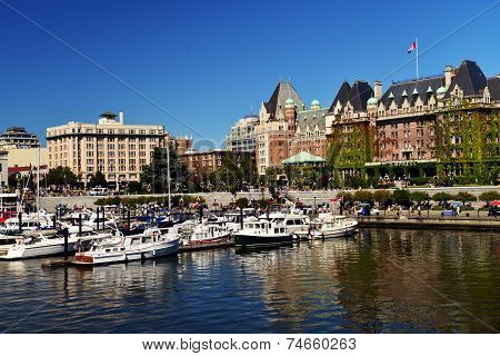 VICTORIA WATERFRONT, CANADA JULY 15: View of  waterfront on July 15, 2014 at Victoria Waterfront