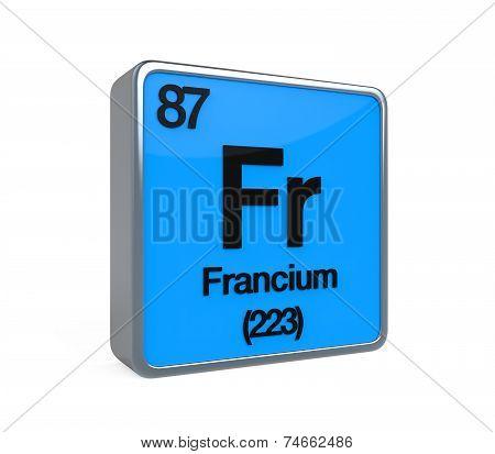 Francium Element Periodic Table