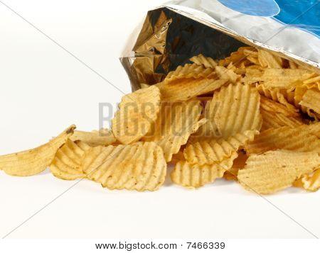 Open Bag of Potato Chips