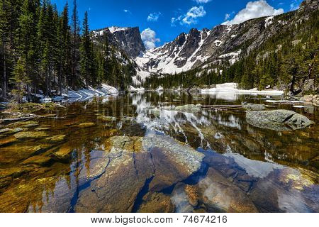 Dream Lake at the Rocky Mountain National Park, Colorado, USA