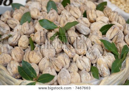 Dried figs at the local market