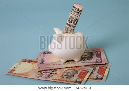 saving with indian currency