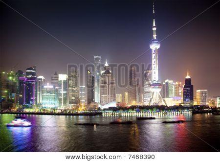 Night View Of Shanghai, China