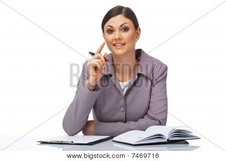 Attentive Businesswoman