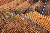 Portuguese rooftops in Porto, Portugal. poster