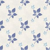 Seamless spring pattern .Blue leaf,abstract leaf,leaf fall,defoliation,autumn leaves ,falling leaves,black poster