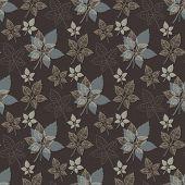 Seamless spring pattern .Grey leaf,abstract leaf,leaf fall,defoliation,autumn leaves ,falling leaves poster
