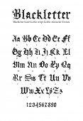 Blackletter gothic script hand-drawn font poster