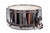 silver music plywood snare drum isolated on white background poster
