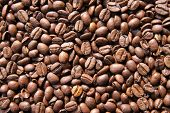 Coffee beans can be used as a background poster