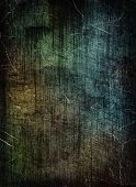 Scratched dark grunge texture as abstract background.Digitally generated image. poster