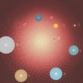 Abstract Solar System Planets and Sun - Vector Illustration poster