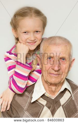 Granddaughter And Grandfather