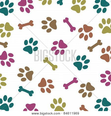 Multi-colored dog pattern