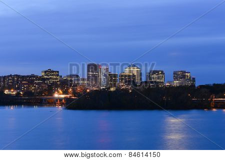 Washington DC - Arlington and Potomac river at night