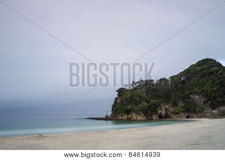 A lonely beach on the Izu peninsular in Japan