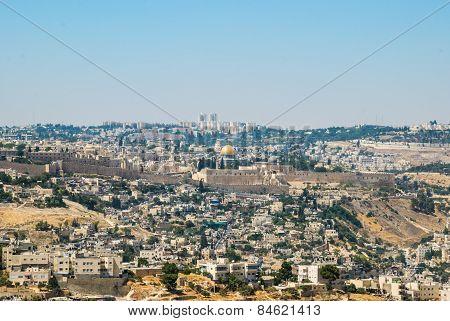 Panorama Of Jerusalem, Israel