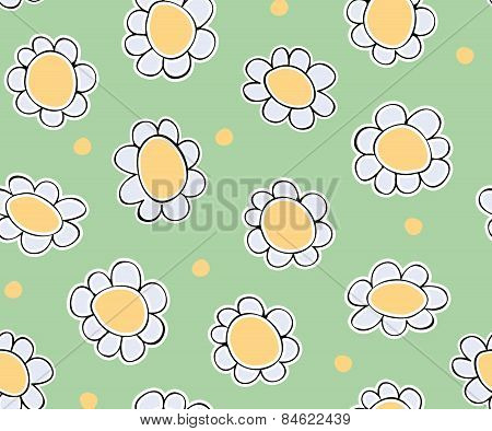daisy seamless vector pattern eps10