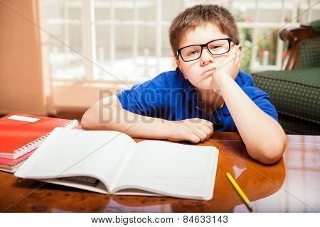Tween Bored From Homework