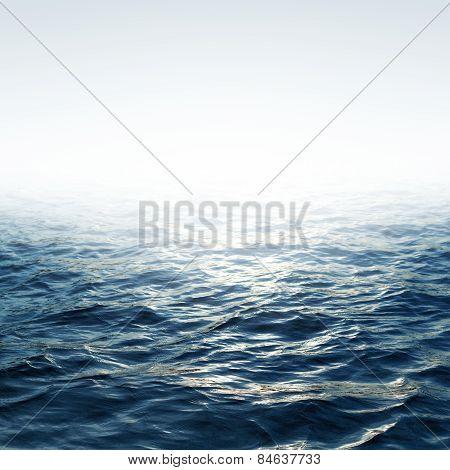 Blue Sea With Sky
