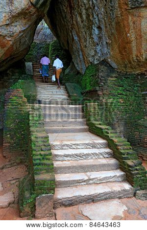 Stairway in Sigiriya Castle, Srilanka