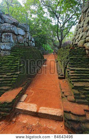 old wall in Sigiriya Castle, SriLanka