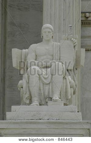 statue outside supreme court