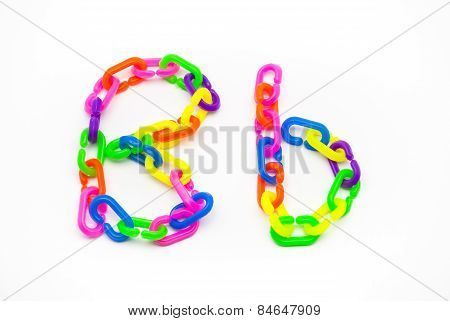 B And B Alphabet, Created By Colorful Plastic Chain