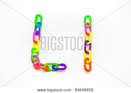 L And L Alphabet, Created By Colorful Plastic Chain