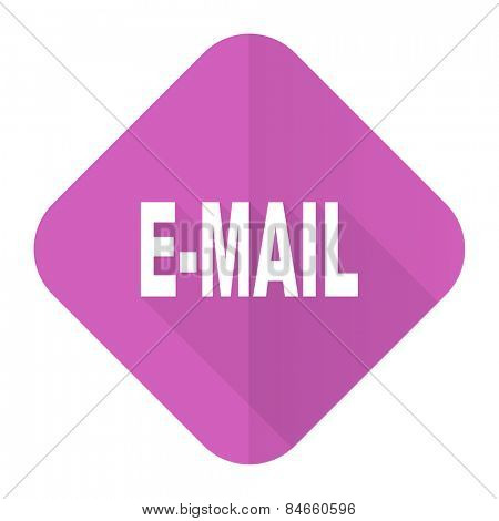 email pink flat icon   poster