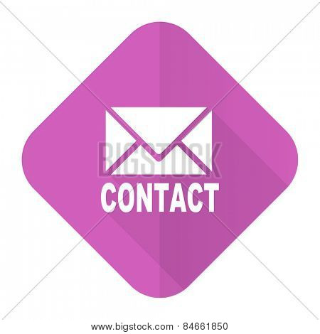 email pink flat icon contact sign  poster