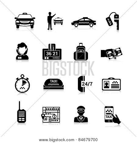 Taxi Icons Black