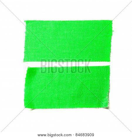 Green Matte Cloth Tape