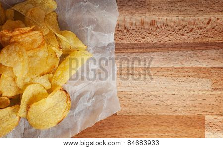 Group Of Potato Chips