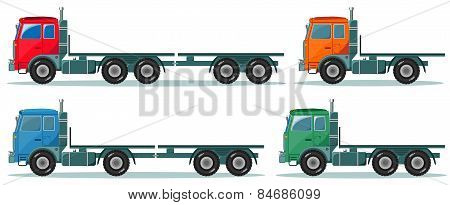 Delivery cargo truck, vector illustration