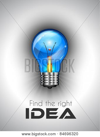 Idea high quality lamp Icon to use for branstorming concept, ideas finding rules, strategy planifications and so on