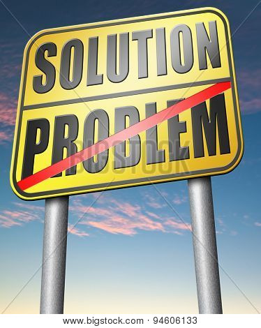 problem solution searching solutions by solving problems sign  poster